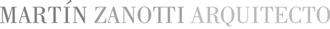 Martín Zanotti Arquitecto Logo